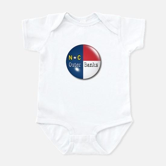 Outer Banks North Carolina Flag Infant Bodysuit