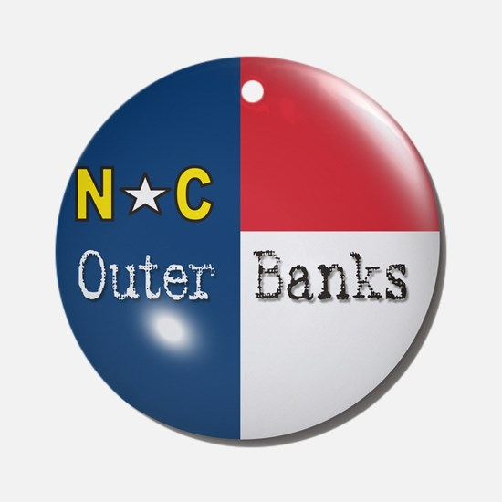 Outer Banks North Carolina Flag Ornament (Round)