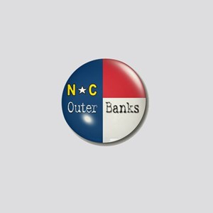 Outer Banks North Carolina Flag Mini Button