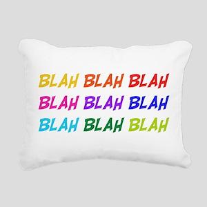 a1_blah01 Rectangular Canvas Pillow
