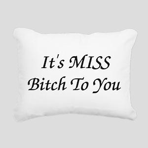 bitch01b Rectangular Canvas Pillow