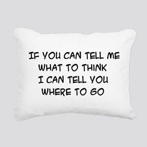think01x Rectangular Canvas Pillow