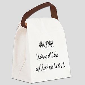 attitude01x Canvas Lunch Bag