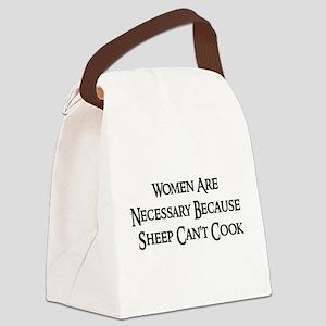 womensheep01a Canvas Lunch Bag