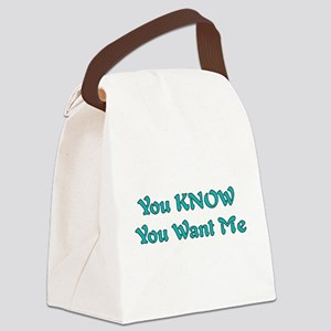 4_wantme01a Canvas Lunch Bag