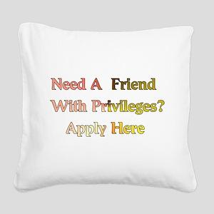 friend01a Square Canvas Pillow