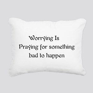 worrying01a Rectangular Canvas Pillow