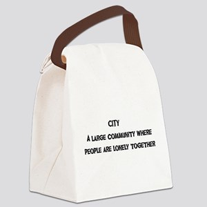 urban01a Canvas Lunch Bag