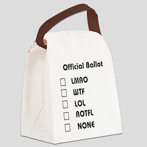 ballot01 Canvas Lunch Bag