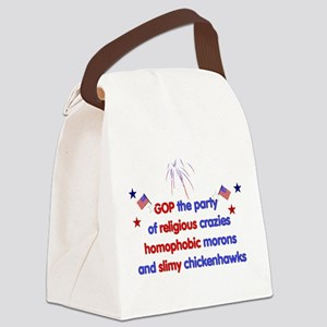 gop_crazies01 Canvas Lunch Bag
