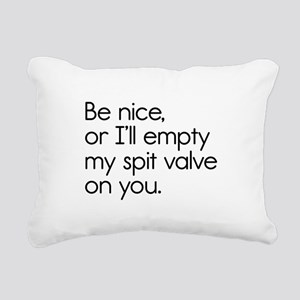 Spit Valve Rectangular Canvas Pillow