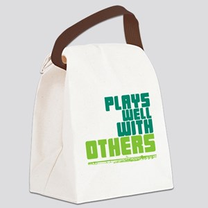 Flute Plays Well Canvas Lunch Bag