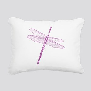 Dragonfly Flute Rectangular Canvas Pillow