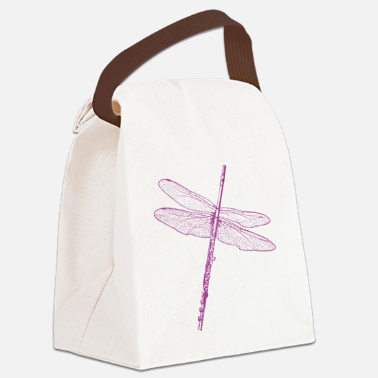 Dragonfly Flute Canvas Lunch Bag