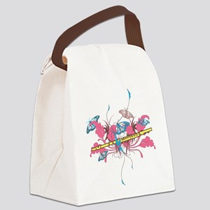Butterfly Flute Canvas Lunch Bag