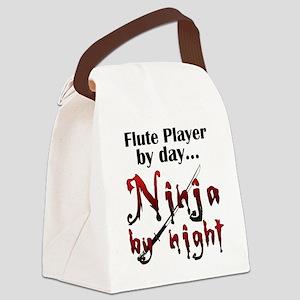 Flute Ninja Canvas Lunch Bag