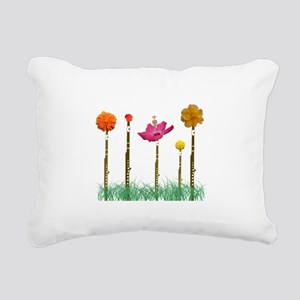 Flute Flowers Rectangular Canvas Pillow
