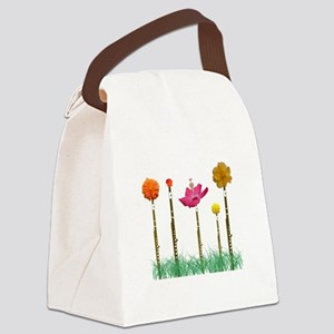 Flute Flowers Canvas Lunch Bag