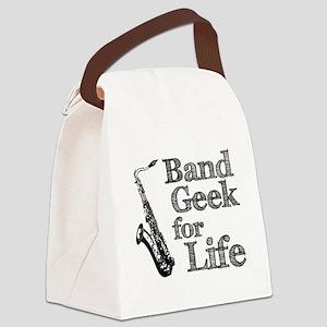 Saxophone Band Geek Canvas Lunch Bag