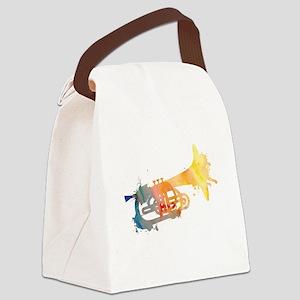 Paint Splat Mellophone Canvas Lunch Bag