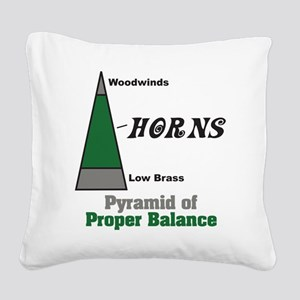 Proper Balance Square Canvas Pillow