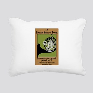 horn_doom_black Rectangular Canvas Pillow
