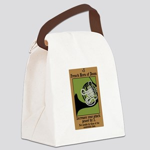 horn_doom_black Canvas Lunch Bag