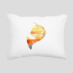 Watercolor Horn Rectangular Canvas Pillow