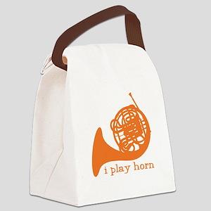 I Play Horn Canvas Lunch Bag