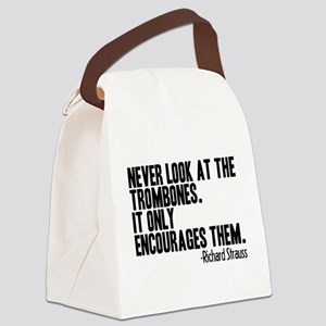 Trombone Quote Canvas Lunch Bag