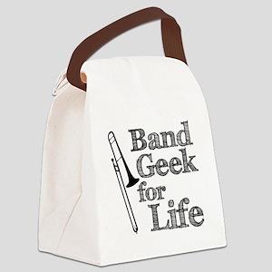 Trombone Band Geek Canvas Lunch Bag