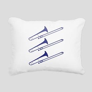 blue_trombones Rectangular Canvas Pillow