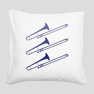 blue_trombones Square Canvas Pillow