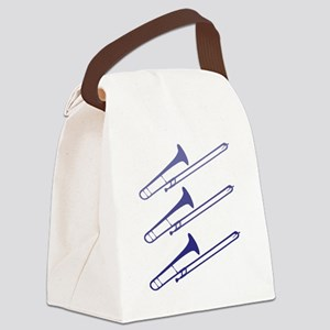 blue_trombones Canvas Lunch Bag