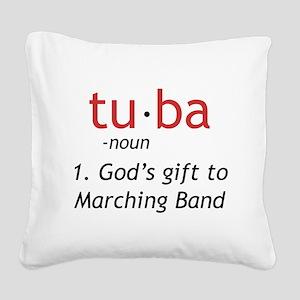 Tuba Definition Square Canvas Pillow