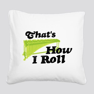 Pit Percussion Marimba Square Canvas Pillow