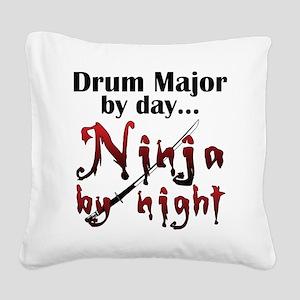 Drum Major Ninja Square Canvas Pillow