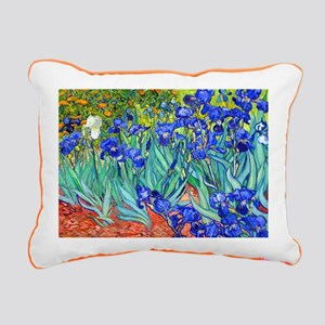 Van Gogh - Irises 1889 Rectangular Canvas Pillow