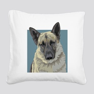 German Shepherd Square Canvas Pillow