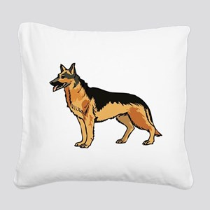 dog Square Canvas Pillow