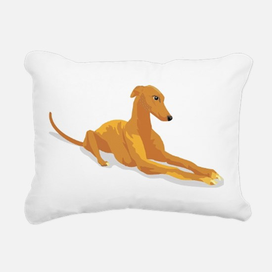 greyhound drawing Rectangular Canvas Pillow