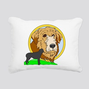 Irish wolf hound Rectangular Canvas Pillow