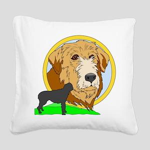 Irish wolf hound Square Canvas Pillow