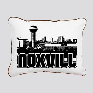 Knoxville Skyline Rectangular Canvas Pillow