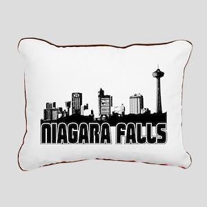 Niagara Falls Skyline Rectangular Canvas Pillow