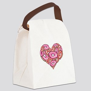 Heart of Donuts Canvas Lunch Bag