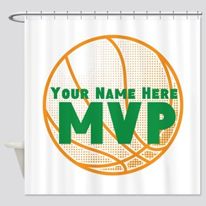 Personalized Basketball MVP. Shower Curtain
