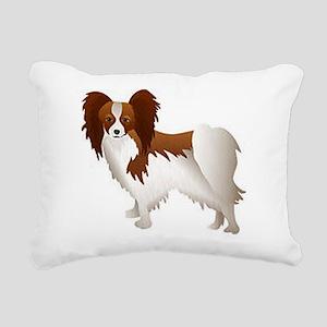Papillon Dog Rectangular Canvas Pillow