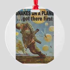 Snakes on a Plane Round Ornament