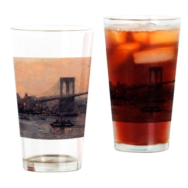 Edward Willis Redfield Brooklyn Bridge Drinking Gl on CafePress.com
